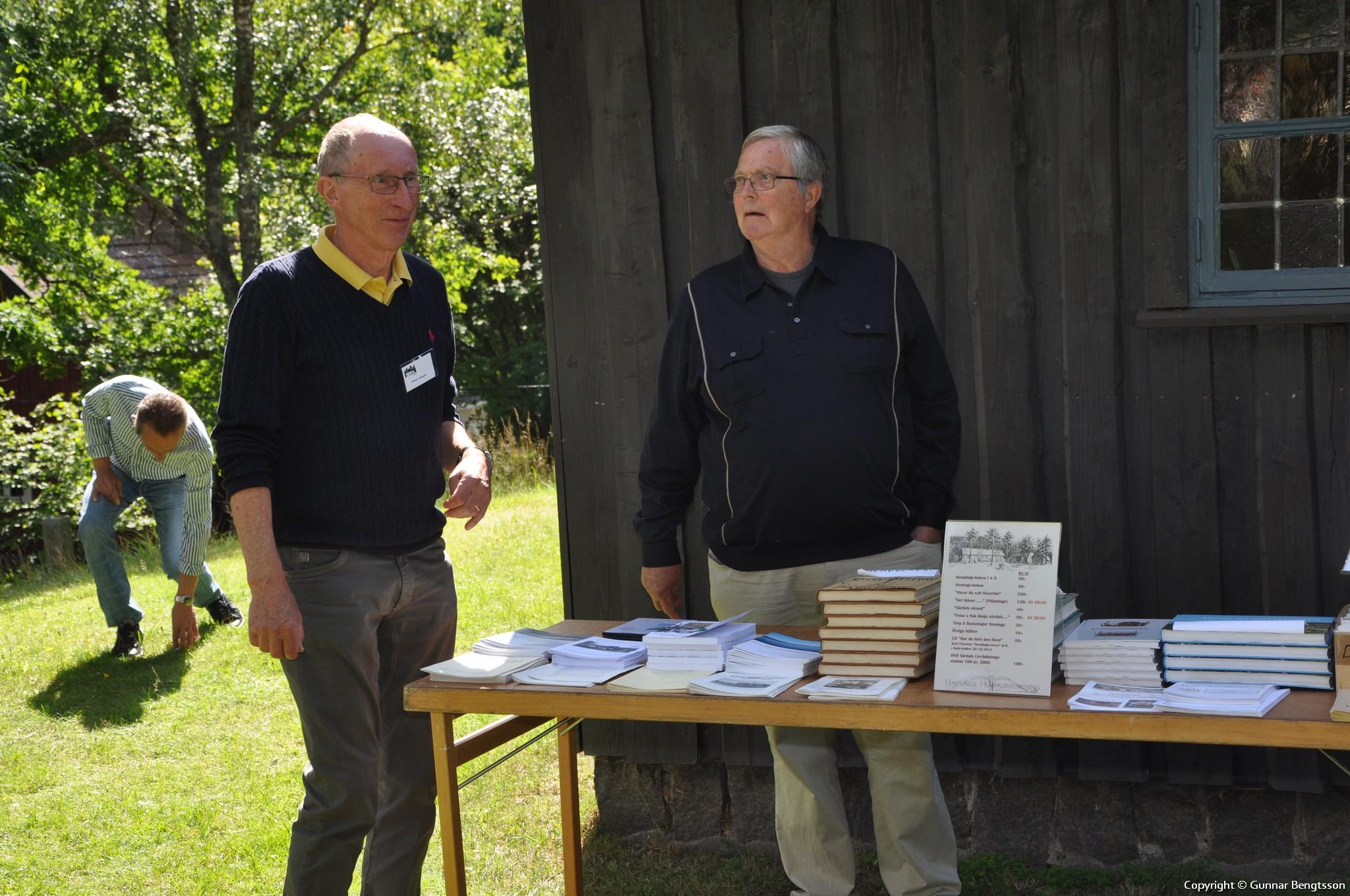 Christer och Lasse vid Särdalsstugan