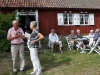 Ordförande Gösta Andersson informerar