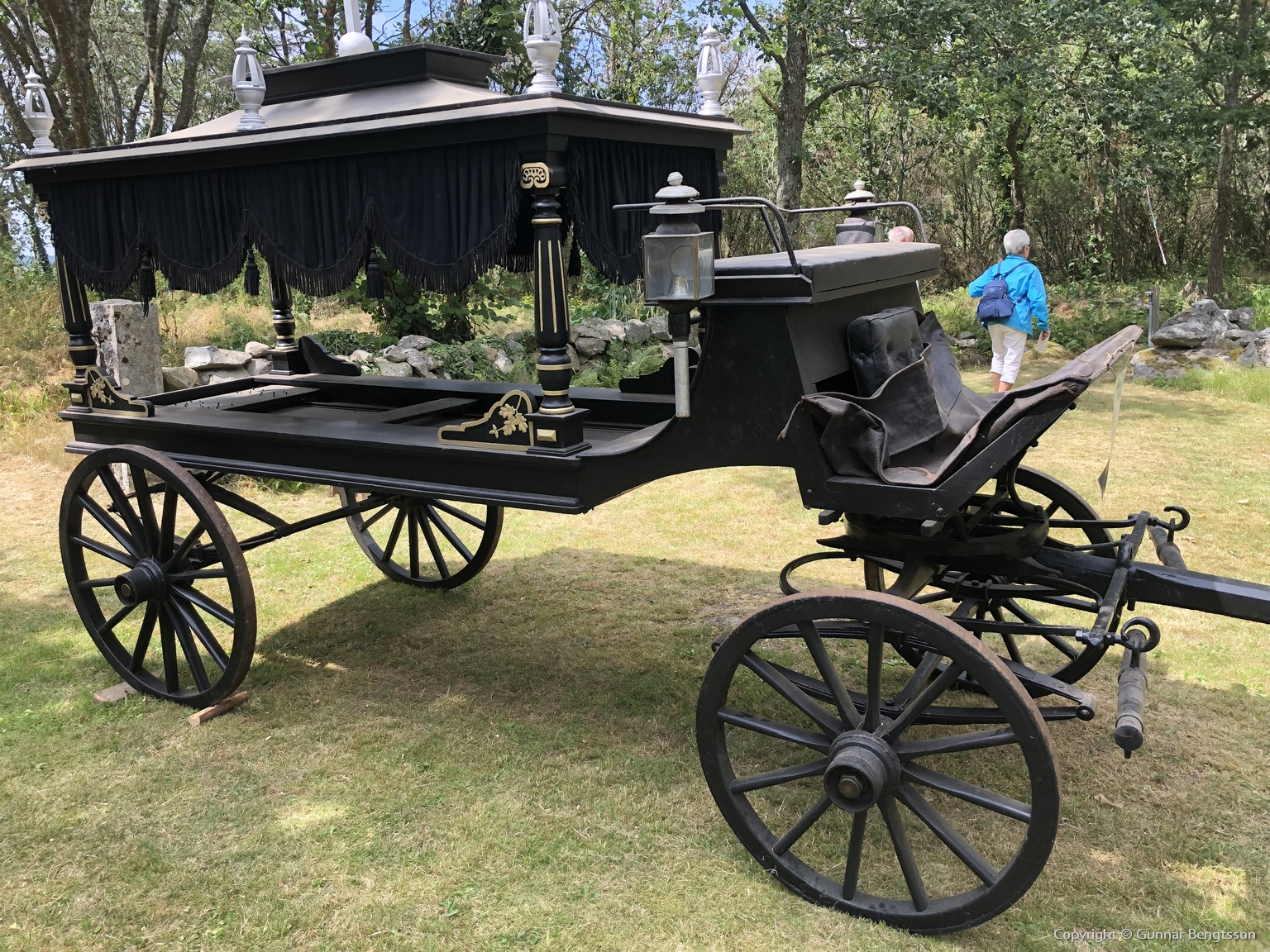 Steninge likvagn var uppställd mellan Timmersjölängan och Smedjan