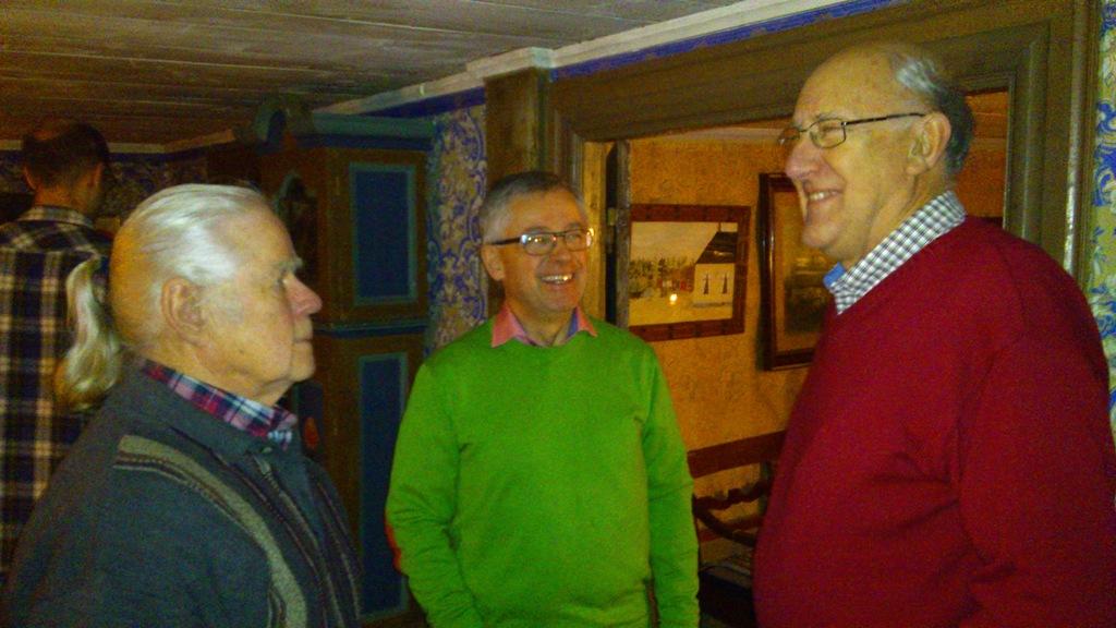 Grötagille 20121227 fr vä Alf Axelsson, Christer Harplinger, Roland Stensson